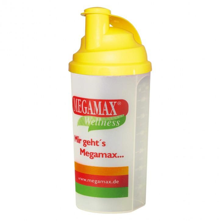 Mixbecher mit Siebeinsatz gelb