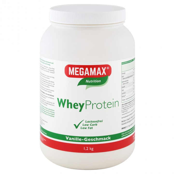Whey Protein (Molkeneiweiß-Isolat) lactosefrei Vanille 1,2 kg