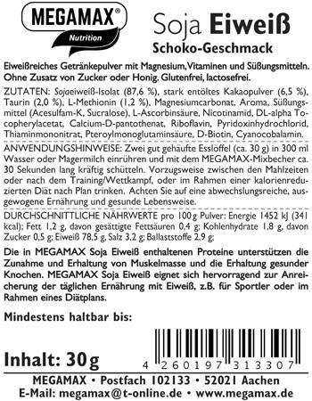 Soja-Eiweiß + Taurin + Methionin  Schoko Einzelportion 30 g