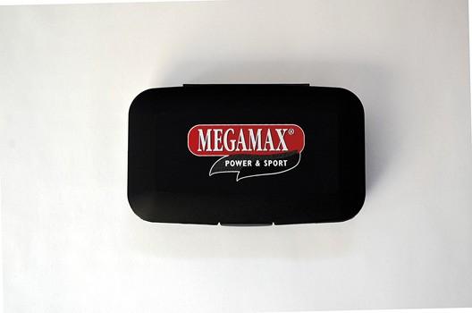 Tablettenbox mit 5 Kammern schwarz