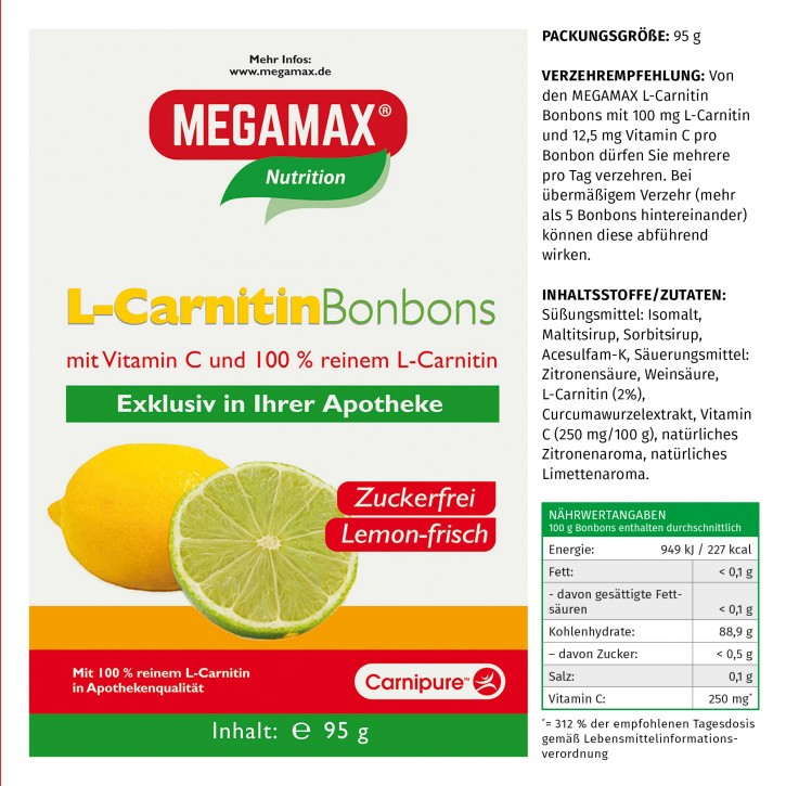 Unsere L-Carnitin Bonbons