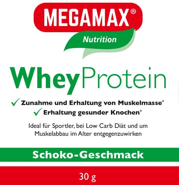 Whey Protein (Molkeneiweiß-Isolat) lactosefrei Schoko Einzelportion 30g