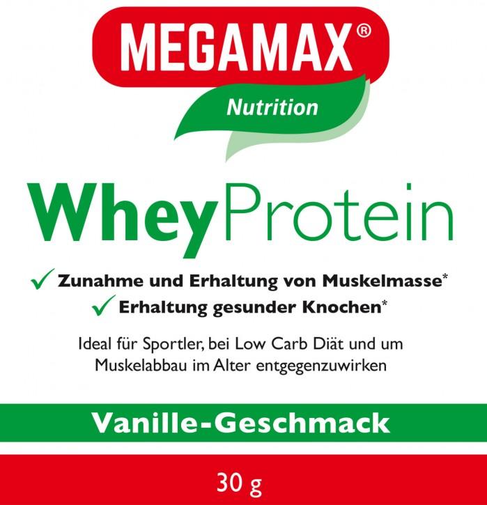 Whey Protein (Molkeneiweiß-Isolat) lactosefrei Vanille Einzelportion 30g