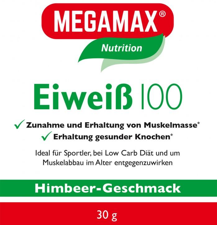 Eiweiß 100 Einzelportion Himbeere 30g
