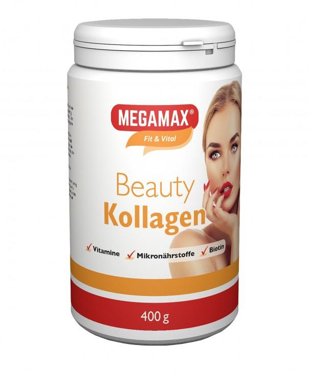 MEGAMAX BEAUTY Kollagen Pulver Collagen Plus L-Cystein, Mangan, Calcium