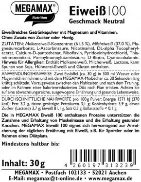 MEGAMAX Protein 100 Neutral 30 g
