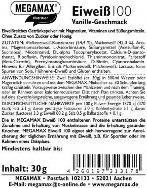 MEGAMAX Protein 100 Vanille 30 g